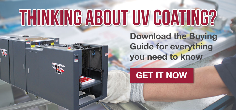 Dowload our UV Coating Buyer's Guide