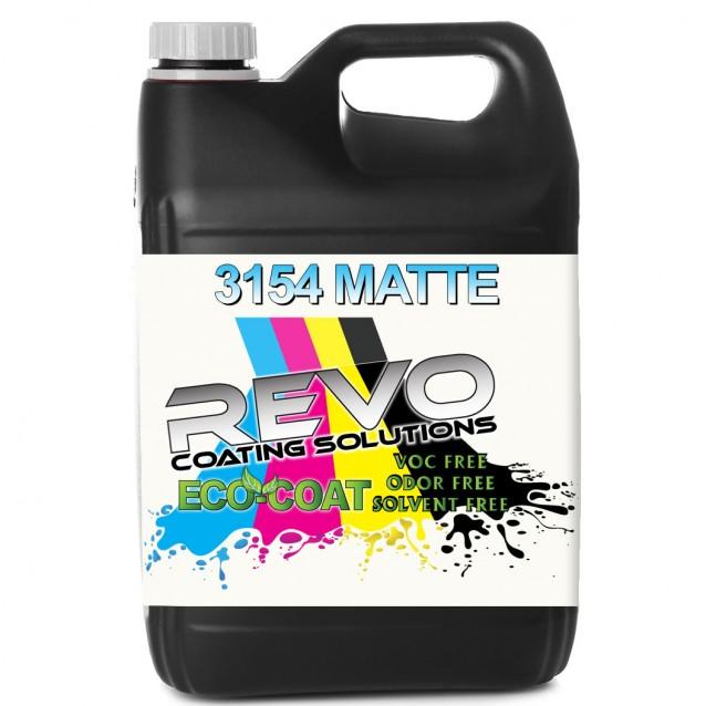 REVO ECO-Coat 3154 Matte UV Curable Coating for Digital Print - 1 Gallon