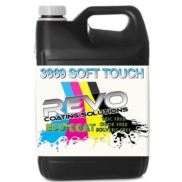 REVO ECO-Coat 3869 Soft Touch UV Curable Coating for Digital Print - 1 Gallon