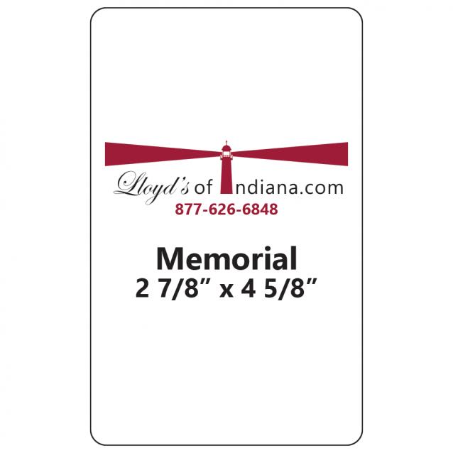 Memorial Card Laminating Pouches
