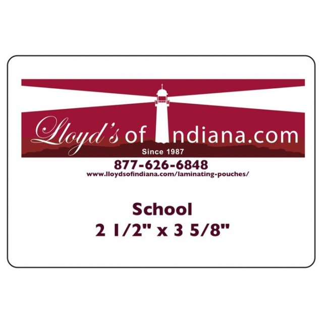 School Size Laminating Pouches (2 1/2