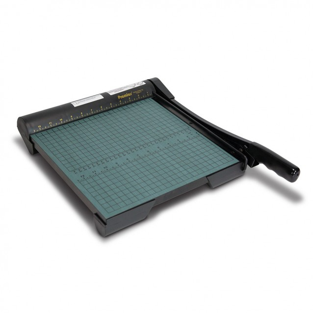 12in Premier® GreenBoard™ Wood Series Guillotine Paper Cutter