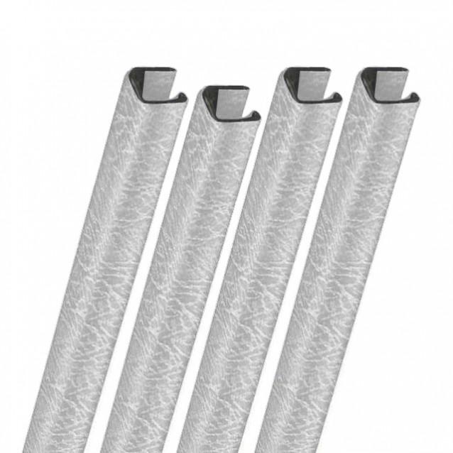 "11"" Metalbind Premium Leather Channel, White"