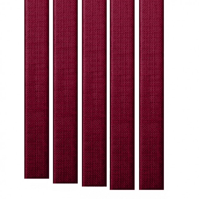 """11"""" Metalbind Classic Linen Channel, Maroon/Burgundy [Special Order]"""