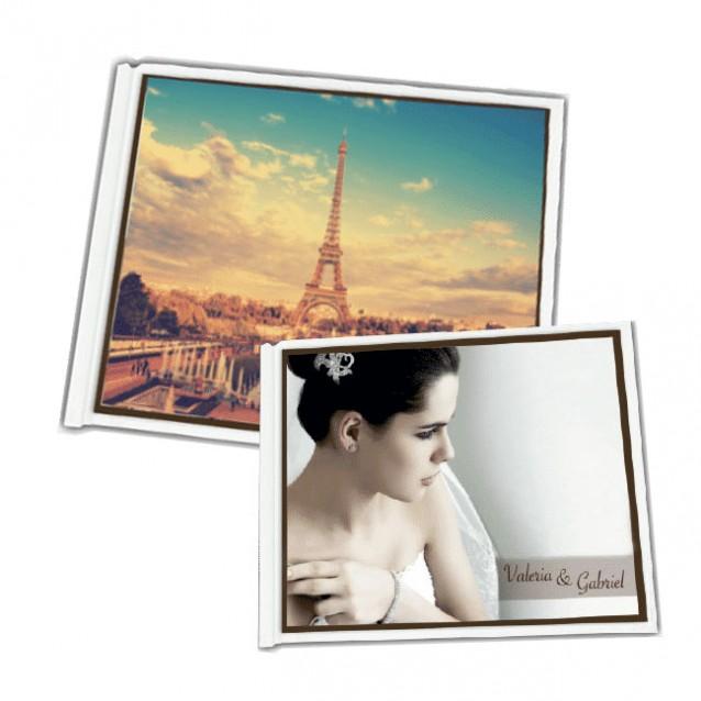 "Photo Book Pouch Covers 6"" x 8"" White Landscape"
