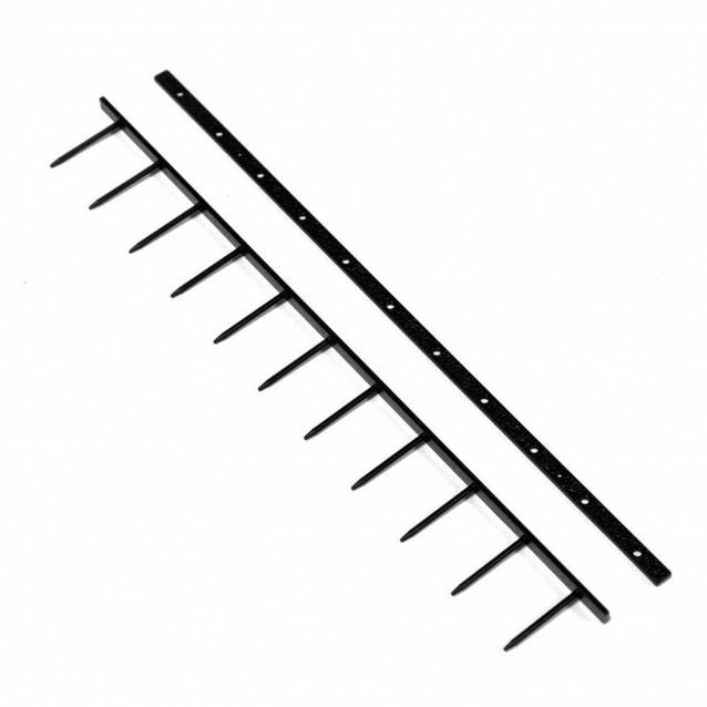 """9-PIN 1"""" SecureBind™ Velo Strips in Black"""